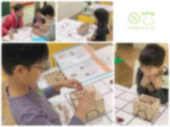 プログラミング教室の様子(教材:PETS)
