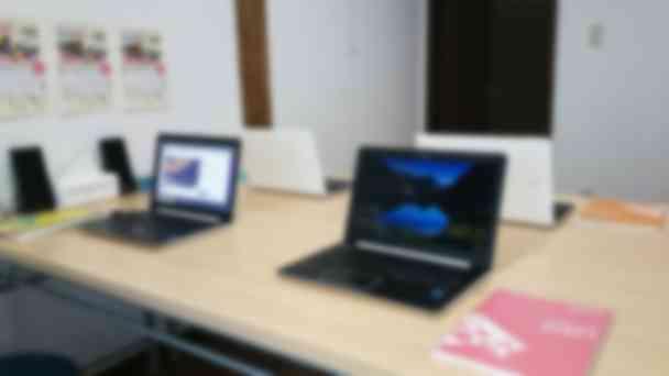 教室専用のパソコンで快適な学習環境を提供