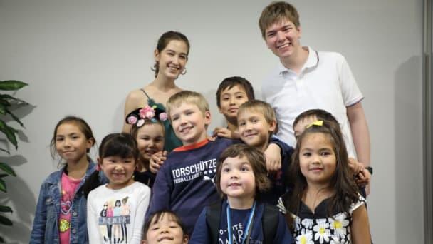 国際色豊かな教室