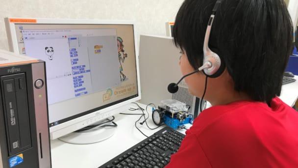 ロボットを使いながら楽しくプログラミング。