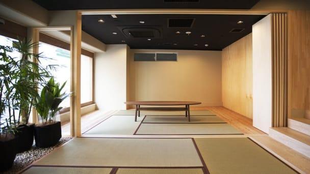 「禅」や「自然」をテーマを形にしたスペースで授業を受けることができます。