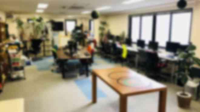緑にあふれる明るい教室です。