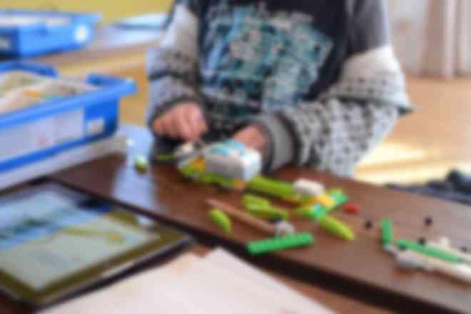 レゴ® WeDo2.0を使った授業の様子
