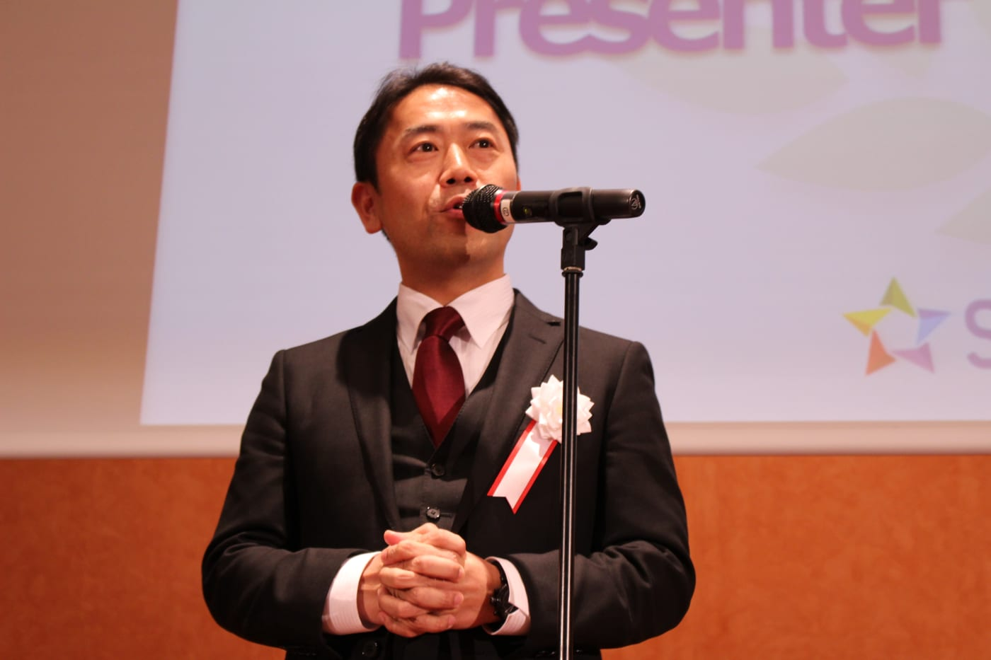 チアリーの代表である和田浩一氏の写真