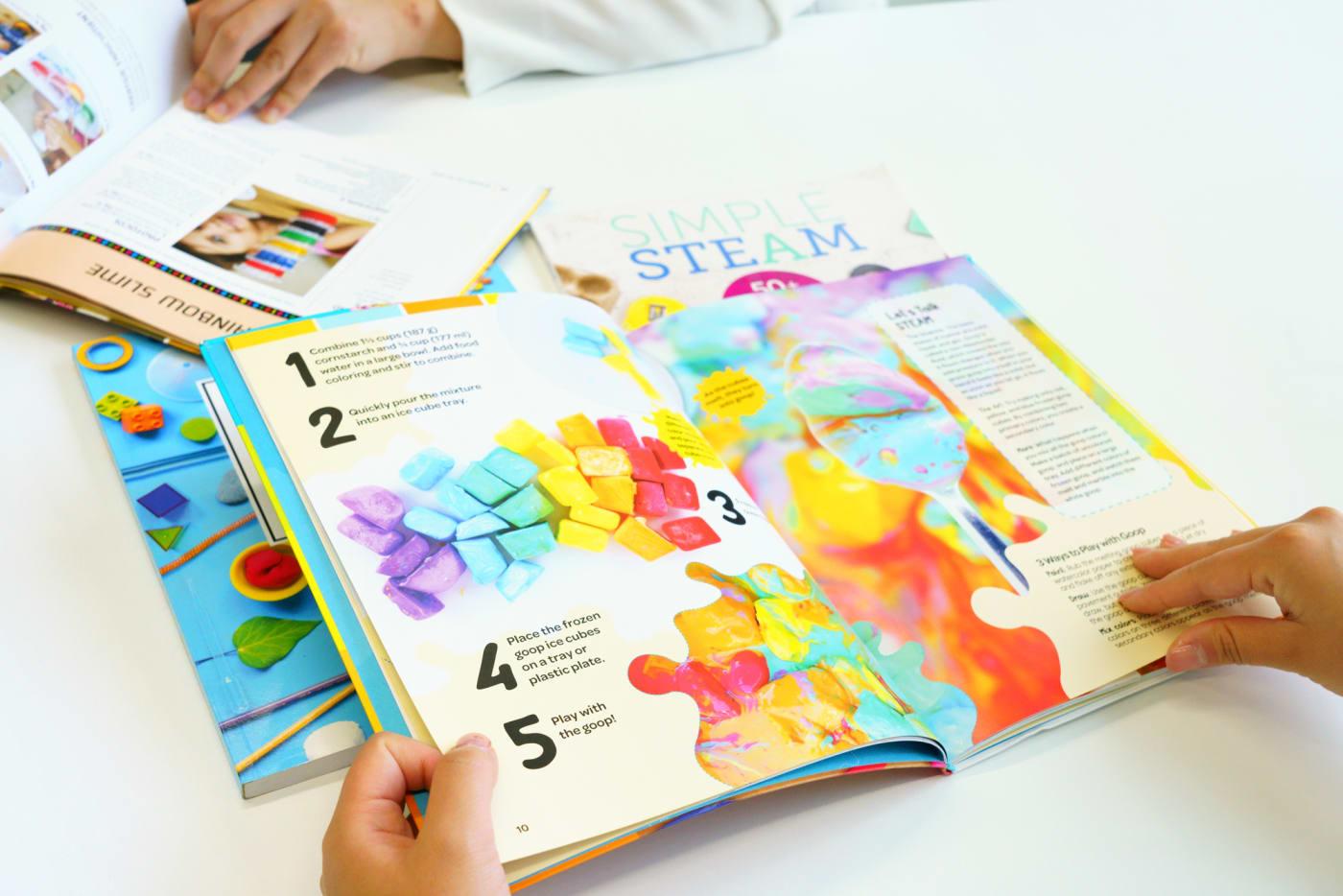 アメリカのSTEAM教育で使用されている教科書の写真